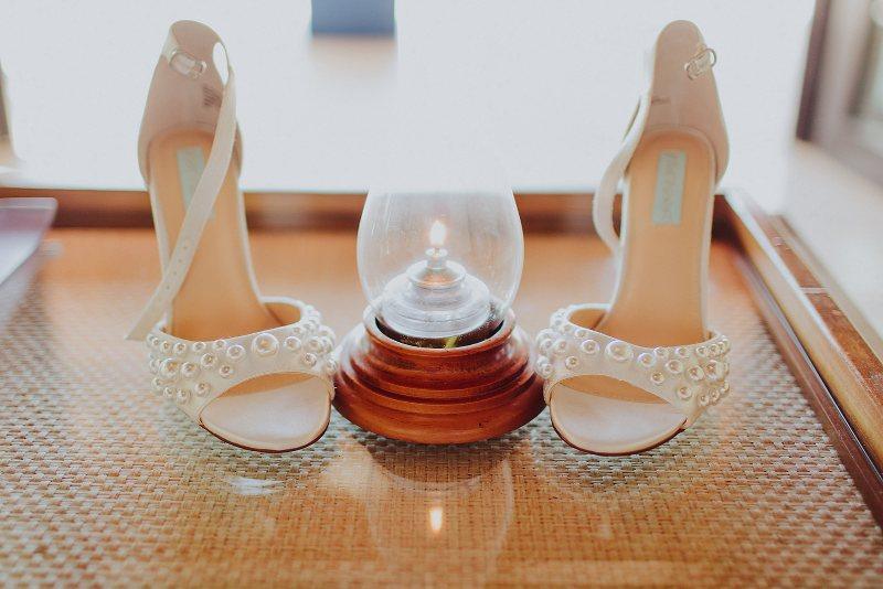 wedding shoes perls