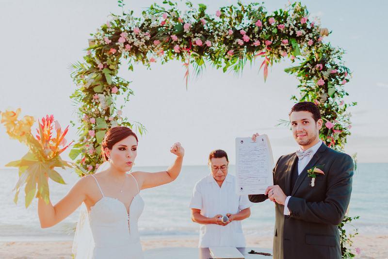 Wedding at celestun beach