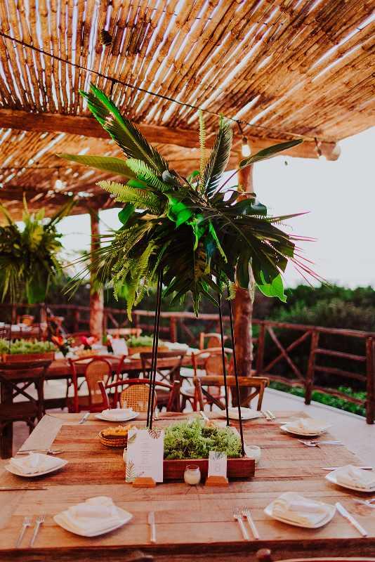 furniture tropical Wedding at celestun beach