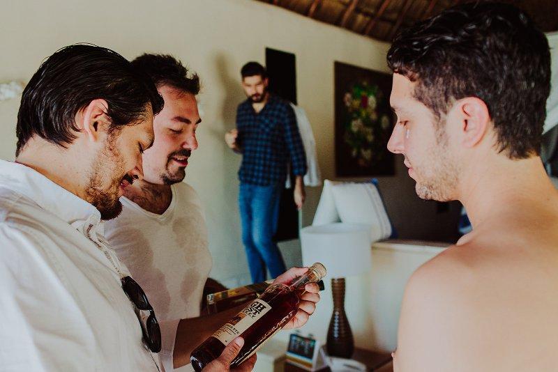groom friends getting ready wedding