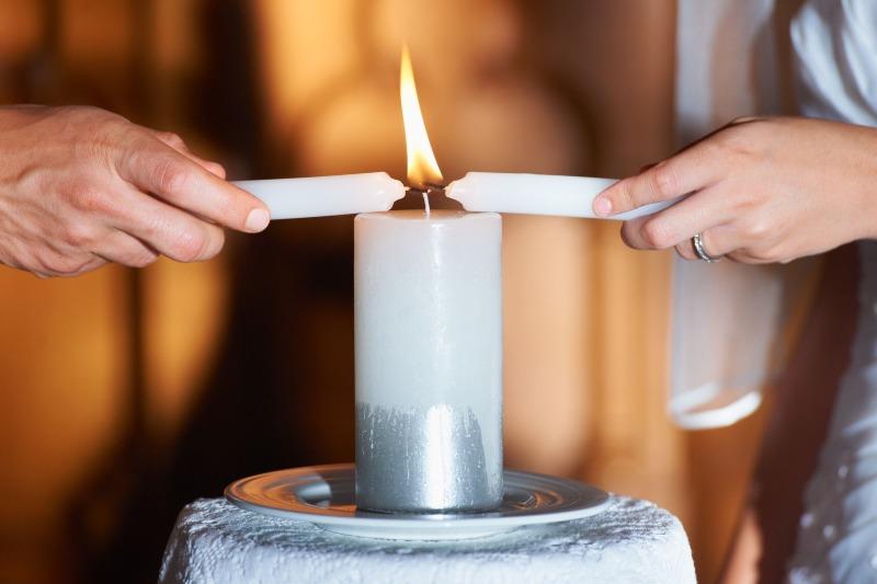 candlelight ceremony wedding