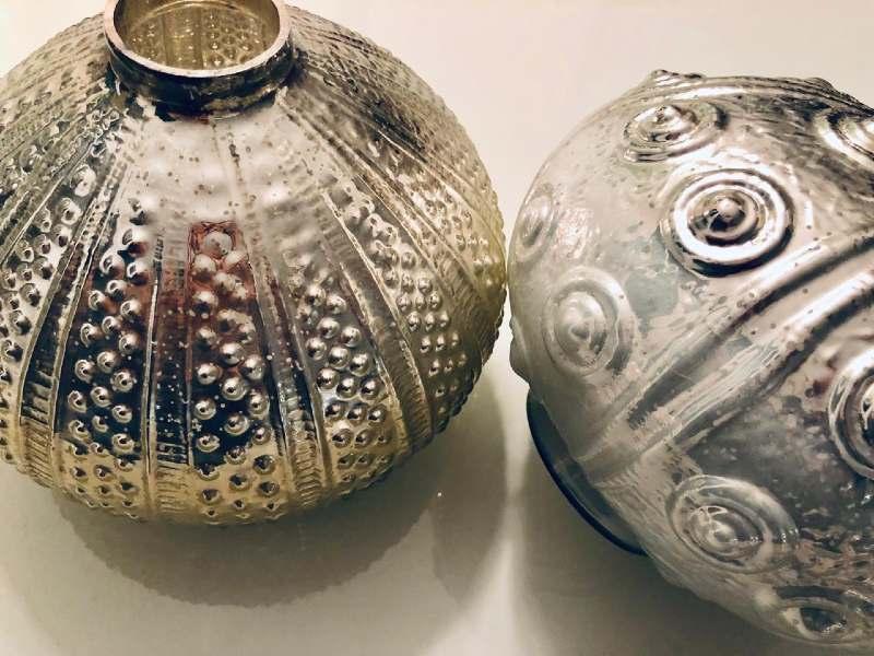 Silver centerpieces