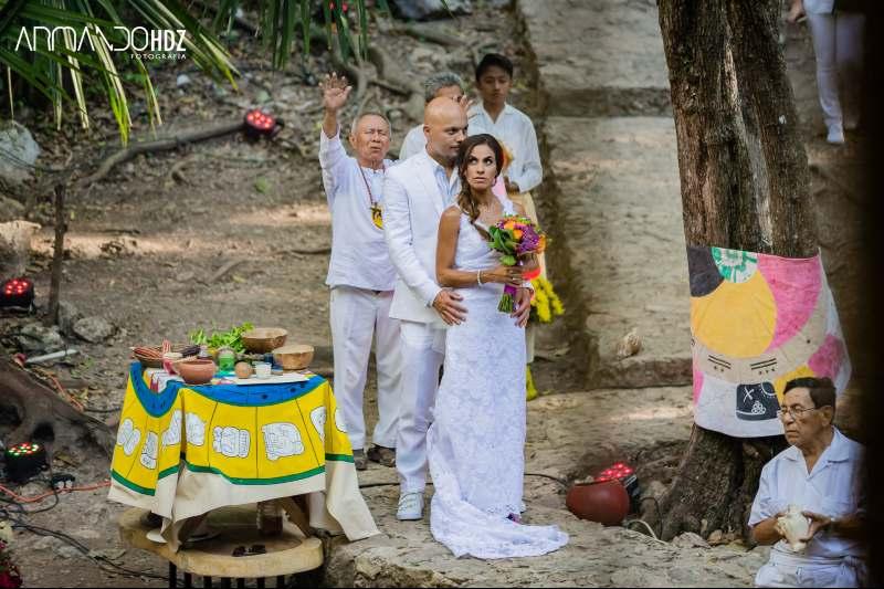 Mayan wedding cenote yucatan