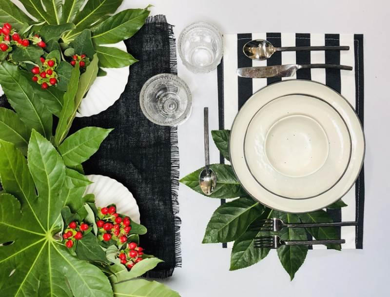 modern tropical tableware