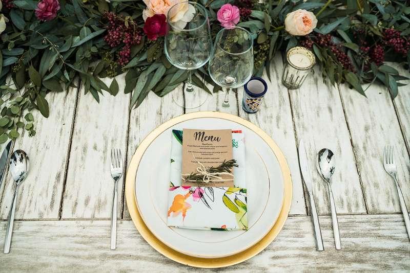 vintage table elegant tropical tableware