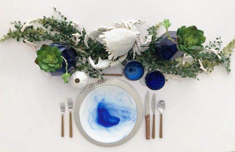 tableware for beach sea's figures