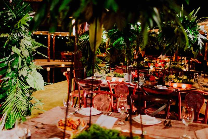 foliage at event forniture for beach