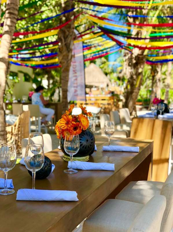 mexican Colorfull event furniture at beach