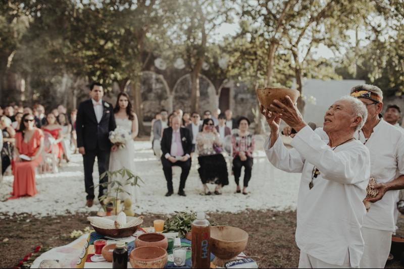 wedding hacienda Tanchem yucatan mayan ceremony