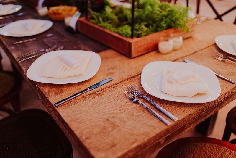 wedding furniture tableware tropical