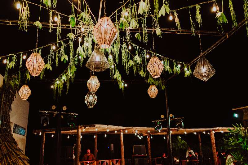 wedding furniture tropical candle ceiling