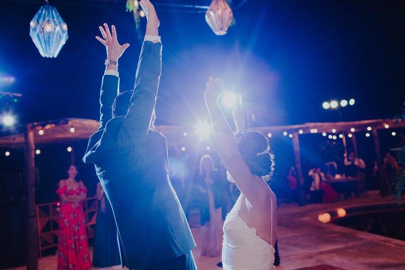 tropical wedding first dance