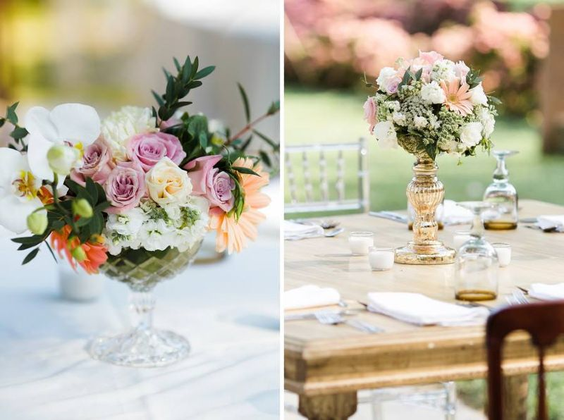 Pastel shades for a vintage wedding