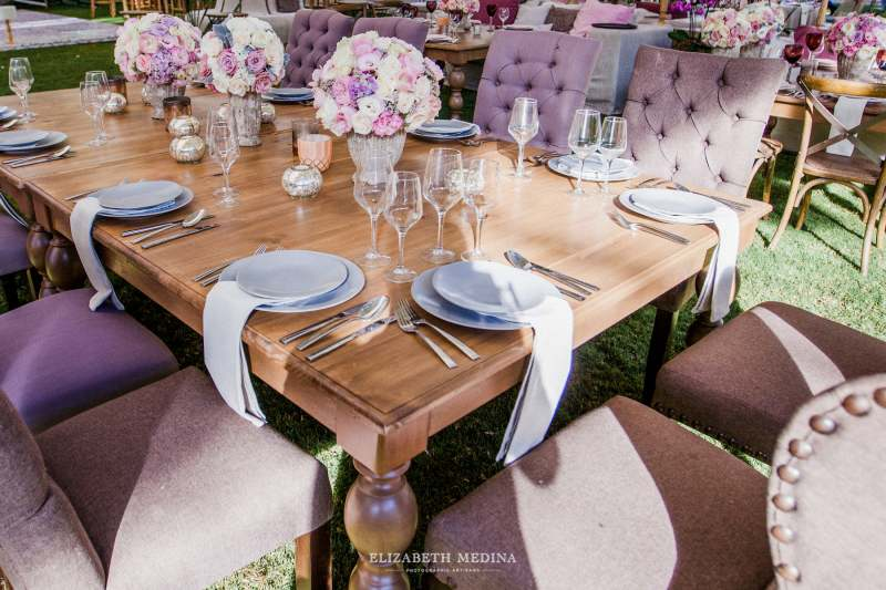 furniture decor in pink and purple shades