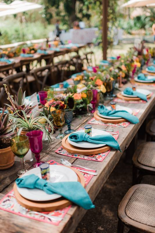 Mix of colors for weddings