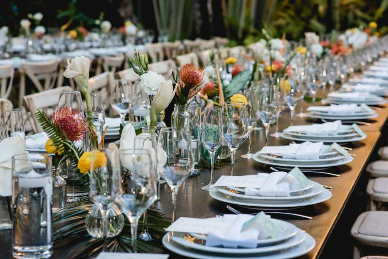 Lovely centerpieces for your wedding in Cancun