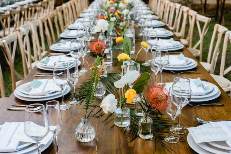 Table decor for beach weddings