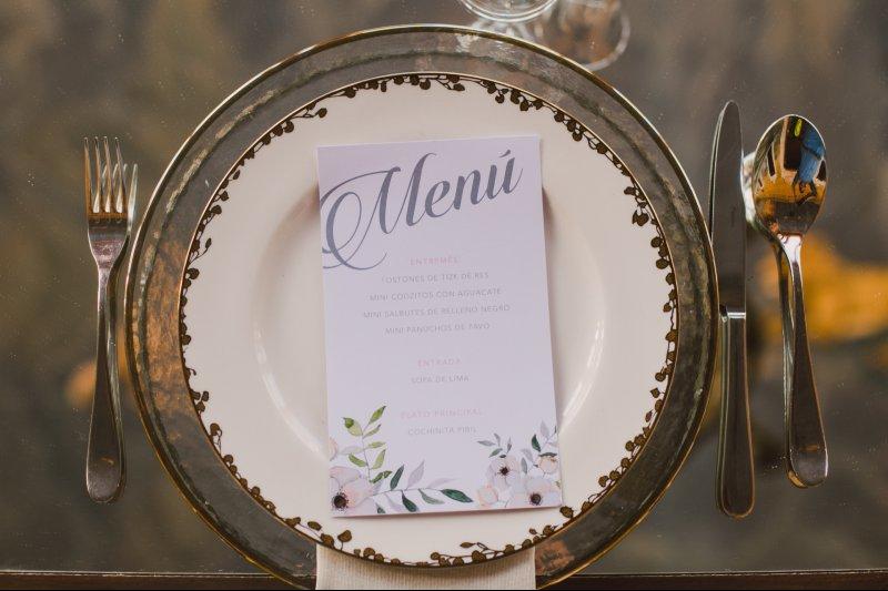 Vintage wedding menu design