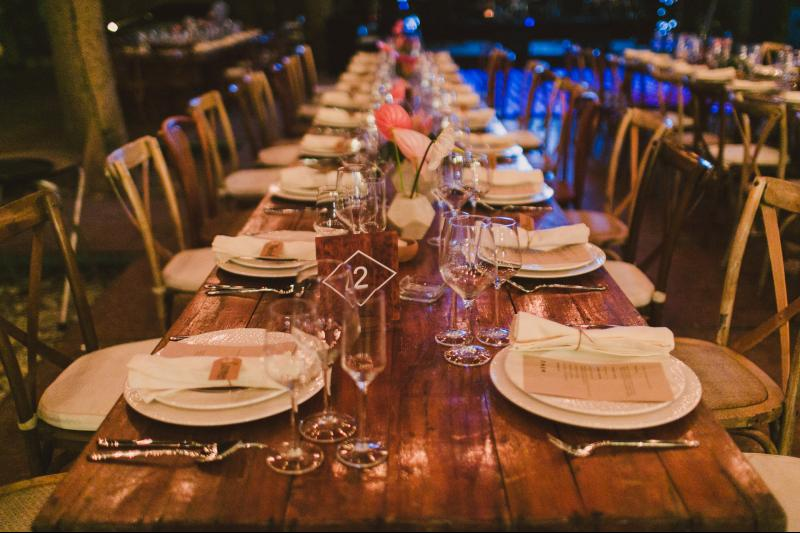 Table decoration for boho chic weddings