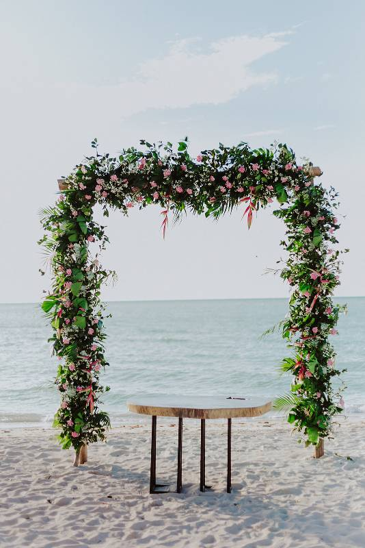 Beautiful decoration at the beach