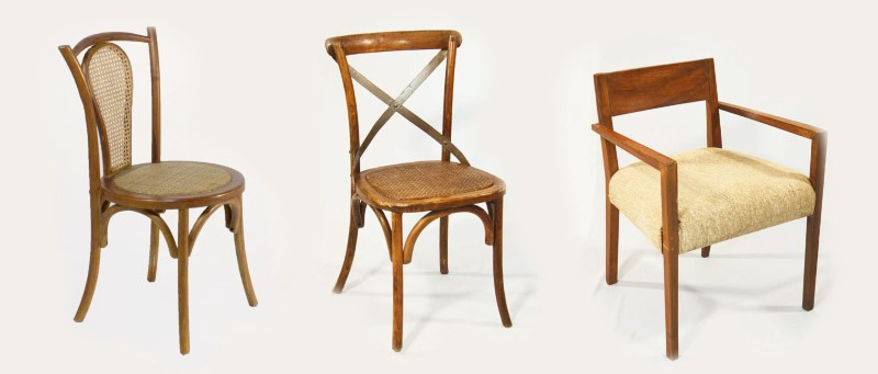 Wood chairs for Cancun weddings