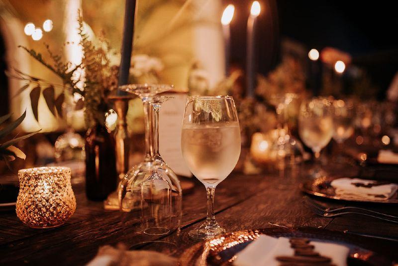 Glassware for beach weddings