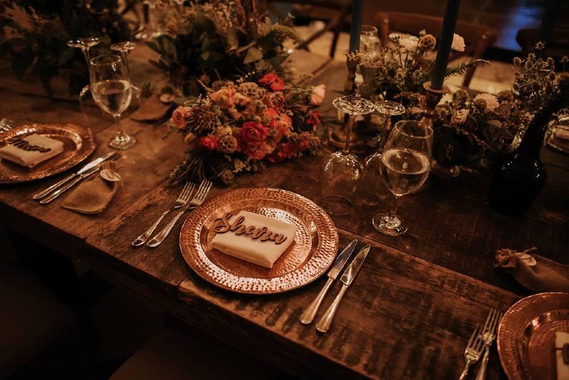 Beautiful tableware decoration