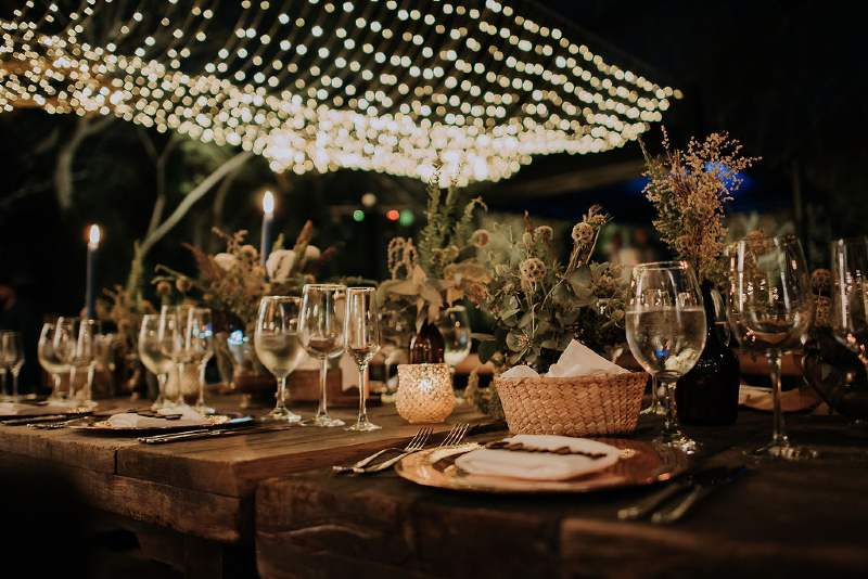Boho chic decor for weddings in Cancun
