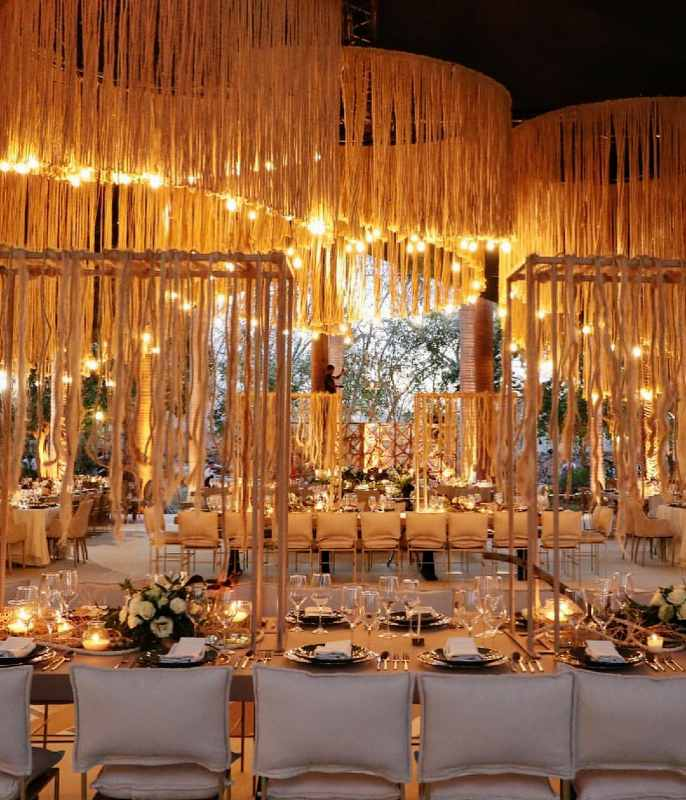 Beautiful decoration for weddings in Cancun
