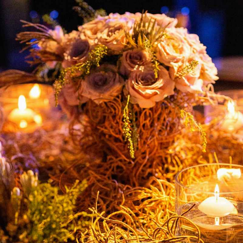 Lovely centerpieces for weddings in Cancun