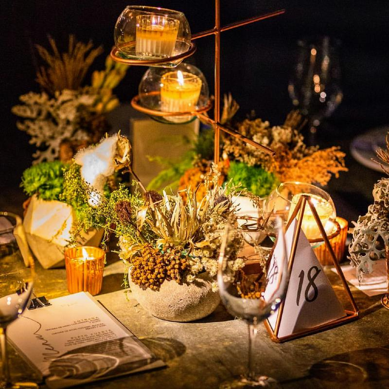 Amazing table decoration for weddings in Cancun