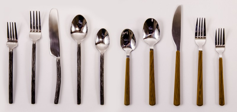 Shining cutlery