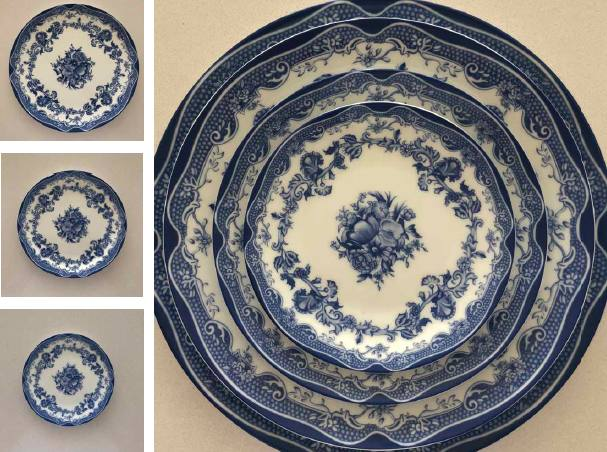 Designs of plates for wedding vintage