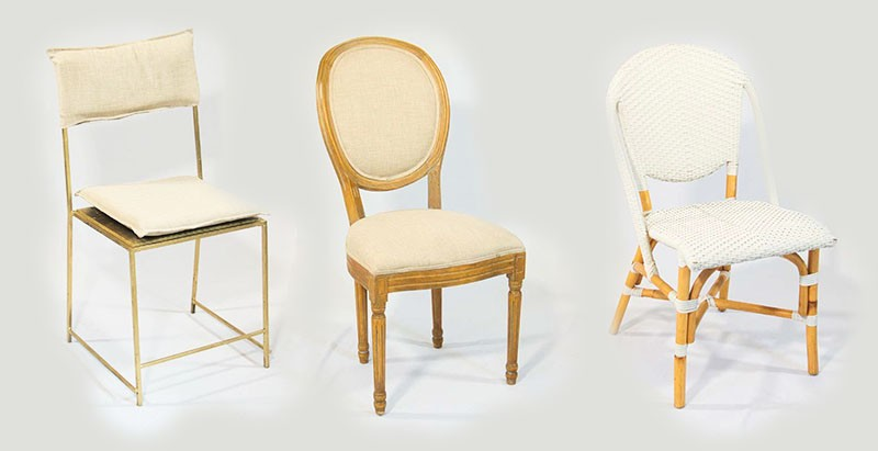 Minimalist chairs for a romantic wedding