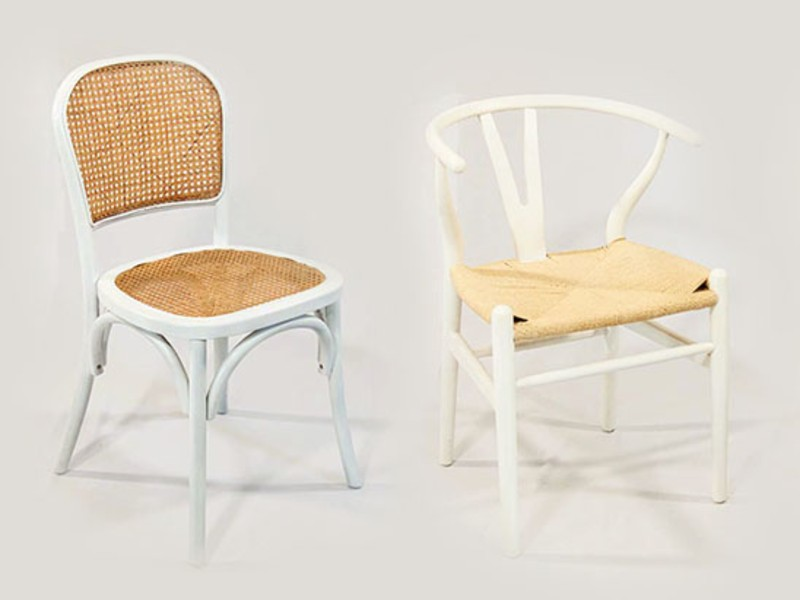 Chairs in shades of white