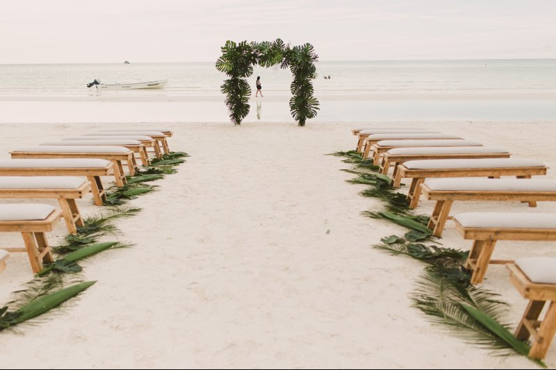 Lovely view for a beach wedding venue