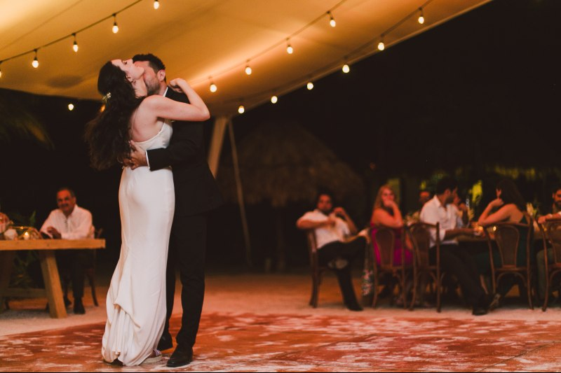 beautiful dance at the beach wedding venue