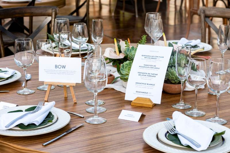 tableware wedding