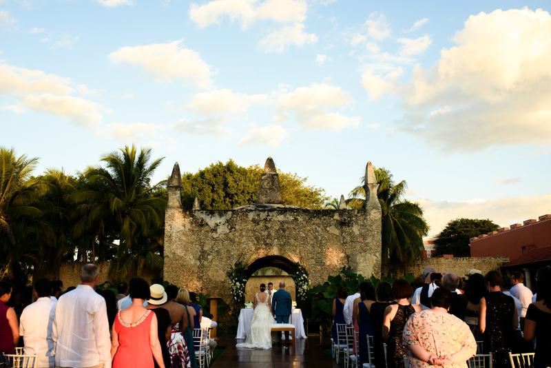 wedding in hacienda yucatan