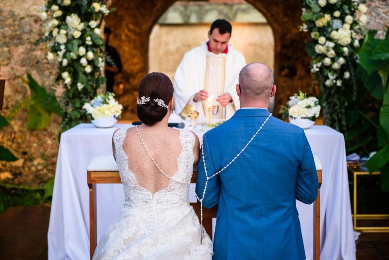 ceremony in hacienda