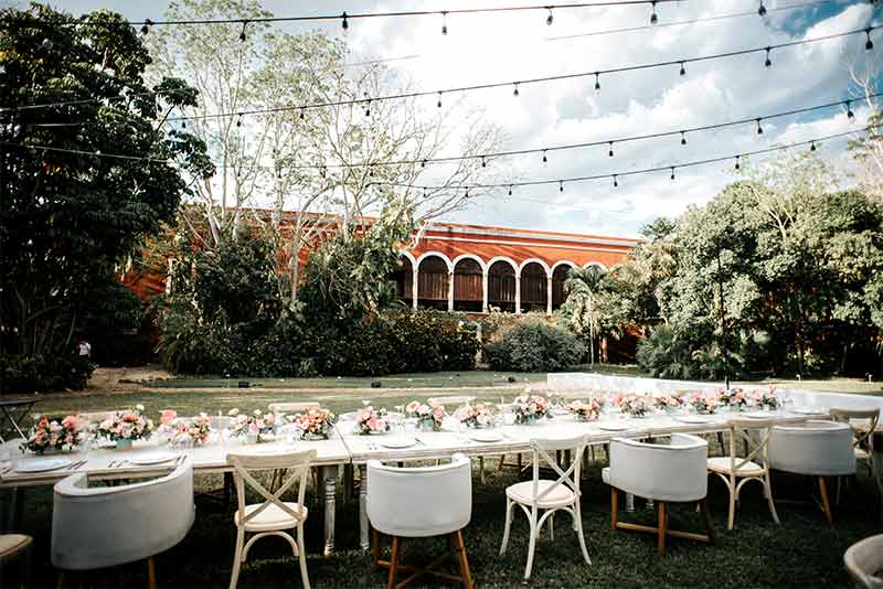 banquete boda hacienda