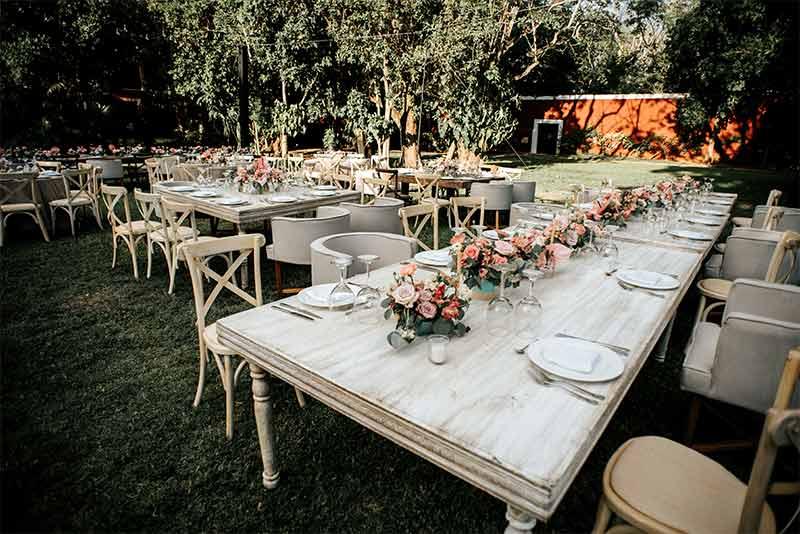 mesa madera boda hacienda