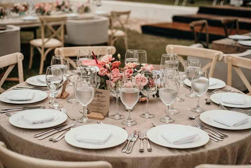vajilla boda hacienda