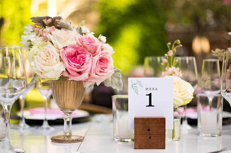 centros de mesa vintage boda