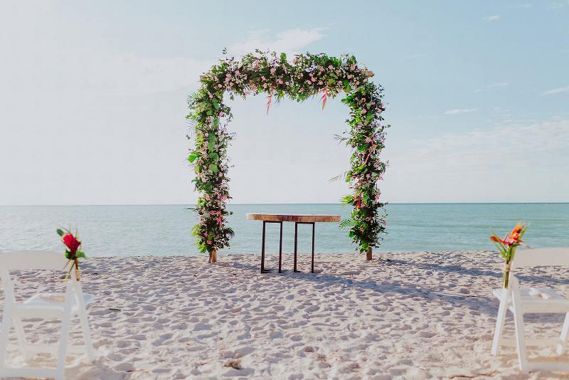 boda en playa celestun