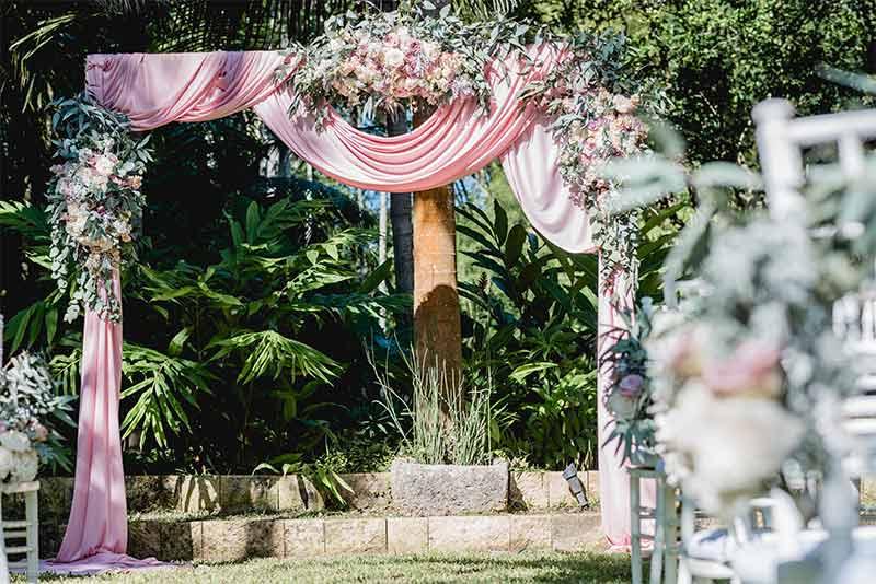 arco flores boda vintage