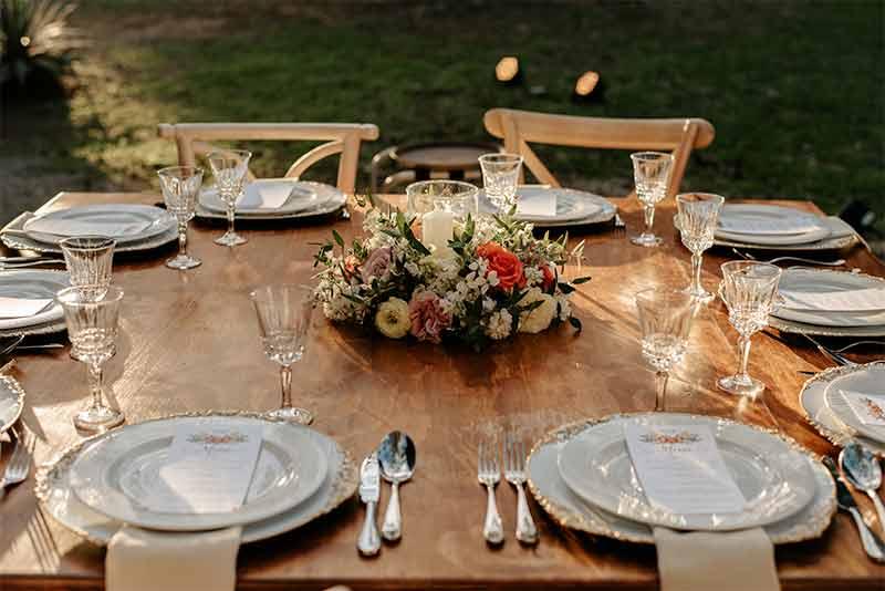 mesa madera vintage boda